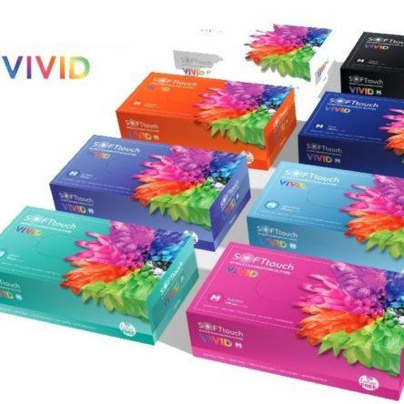 Εξεταστικά Γάντια Νιτριλίου VIVID (100τμχ) X-SMALL πορτοκαλί