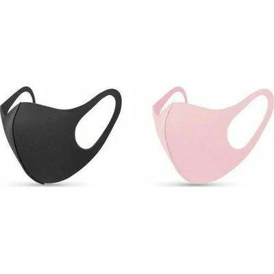 Παιδικές Μάσκες Προστασίας TiLi Fashion Foam για κορίτσια 2τμχ (ροζ και μαύρη)