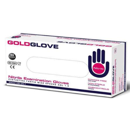 Γάντια Νιτριλίου μαύρο χρώμα GOLDGLOVE MEDIUM (100τμχ)