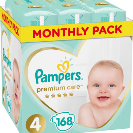 Monthly Pack Pampers Premium Care No 4 (8-14Kg) 168 τμχ