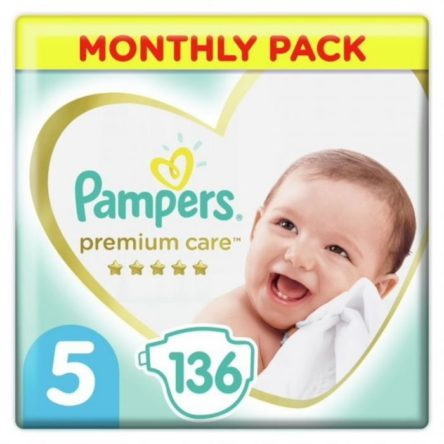 Monthly Pack Pampers Premium Care No 5 (11-16kg) 136 τμχ